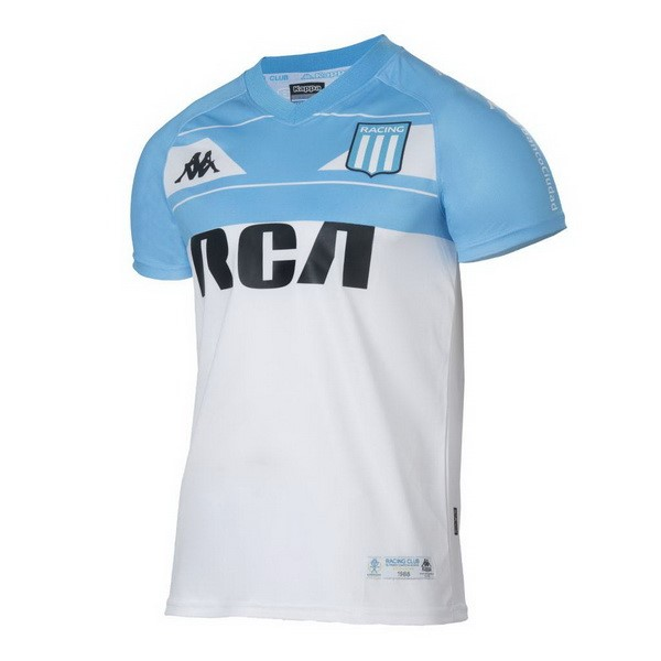 Camiseta Racing Club Primera 100th Blanco Azul Replicas Futbol