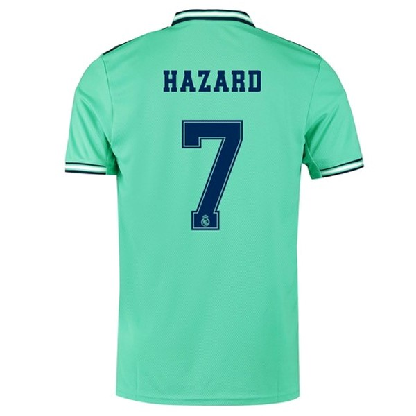 Camiseta Real Madrid NO.7 Hazard Tercera 2019/2020 Verde Replicas Futbol