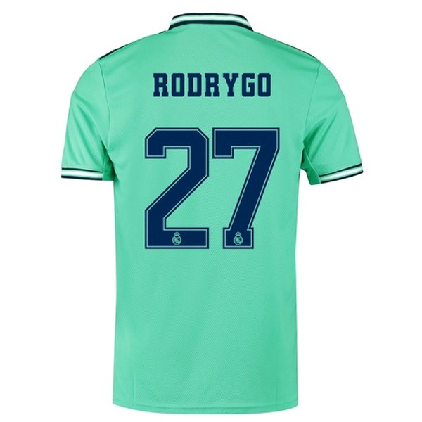 Camiseta Real Madrid NO.27 Rodrygo Tercera 2019/2020 Verde Replicas Futbol