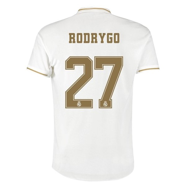Camiseta Real Madrid NO.27 Rodrygo Primera 2019/2020 Blanco Replicas Futbol