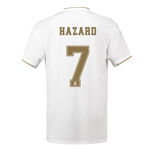 Camiseta Real Madrid NO.7 Hazard Primera 2019/2020 Blanco Replicas Futbol