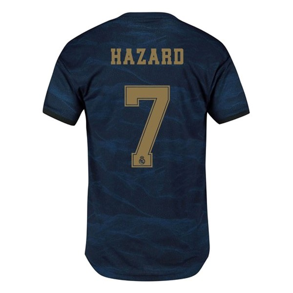 Camiseta Real Madrid NO.7 Hazard Segunda 2019/2020 Azul Replicas Futbol