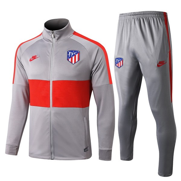 Chandal Atletico Madrid 2019/2020 Gris Rojo Replicas Futbol