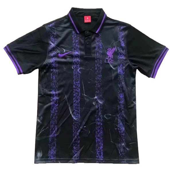 Polo Liverpool 2019/2020 Negro Purpura Replicas Futbol