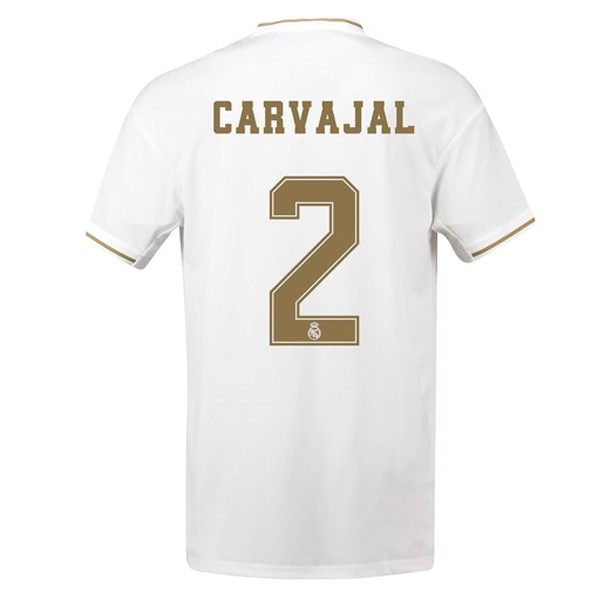 Camiseta Real Madrid NO.2 Carvajal Primera 2019/2020 Blanco Replicas Futbol