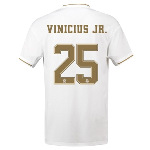Camiseta Real Madrid NO.25 Vinicius JR. Primera 2019/2020 Blanco Replicas Futbol