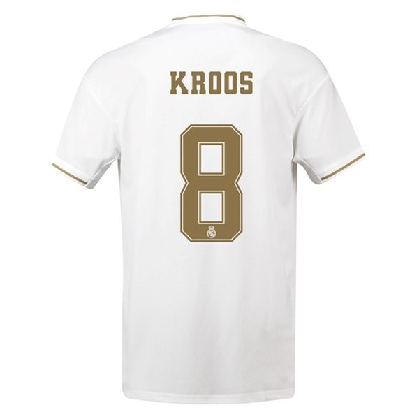 Camiseta Real Madrid NO.8 Kroos Primera 2019/2020 Blanco Replicas Futbol