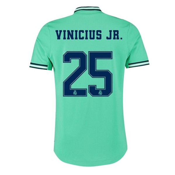 Camiseta Real Madrid NO.25 Vinicius JR. Tercera 2019/2020 Verde Replicas Futbol