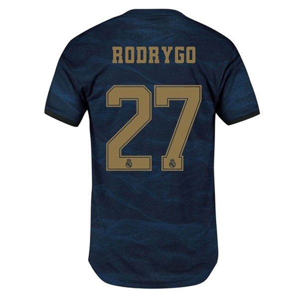 Camiseta Real Madrid NO.27 Rodrygo Segunda 2019/2020 Azul Replicas Futbol