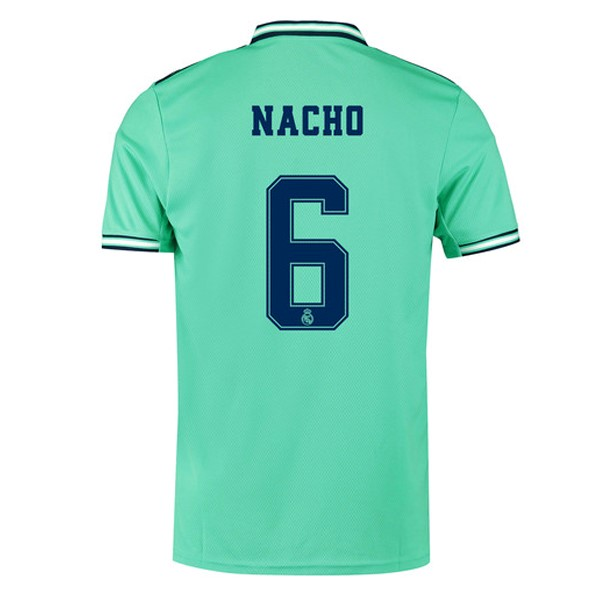 Camiseta Real Madrid NO.6 Nacho Tercera 2019/2020 Verde Replicas Futbol