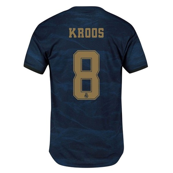 Camiseta Real Madrid NO.8 Kroos Segunda 2019/2020 Azul Replicas Futbol