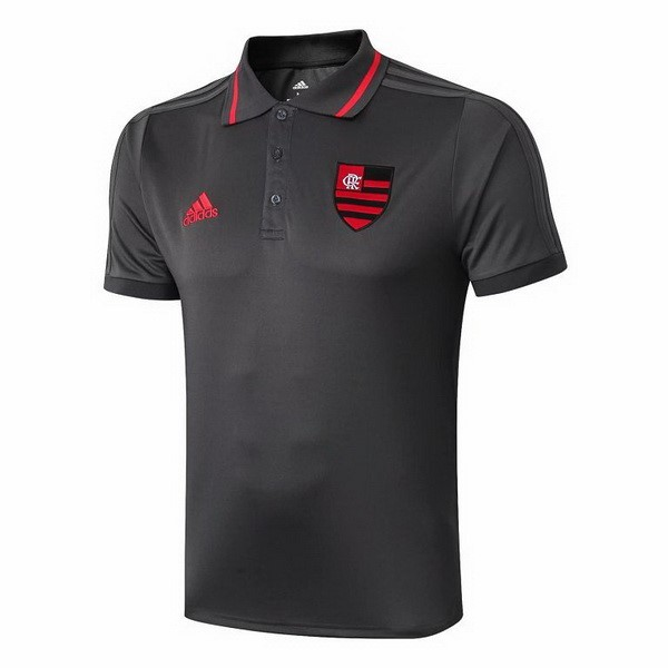 Polo Flamenco 2019/2020 Gris Rojo Replicas Futbol