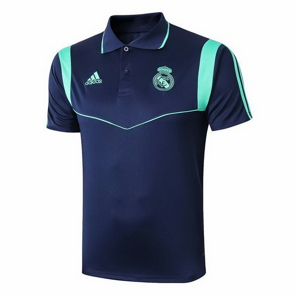 Polo Real Madrid 2019/2020 Azul Verde Marino Replicas Futbol
