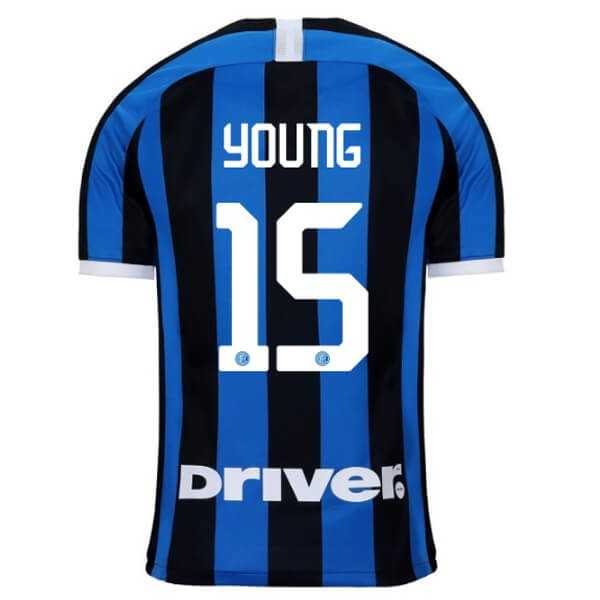 Camiseta Inter Milan NO.15 Young Primera 2019/2020 Azul Replicas Futbol