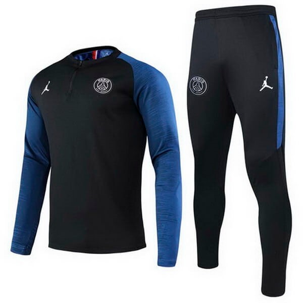 JORDAN Chandal Paris Saint Germain 2020/2021 Negro Azul Replicas Futbol