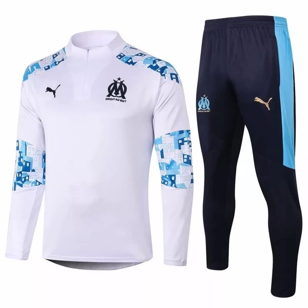 Chandal Marsella 2020/2021 Blanco Azul Replicas Futbol