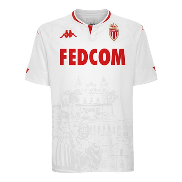 Tailandia Camiseta AS Monaco Tercera 2020/2021 Blanco