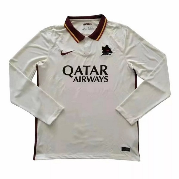 Camiseta As Roma Segunda ML 2020/2021 Blanco