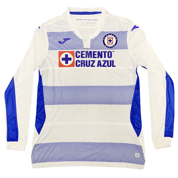 Camiseta Cruz Azul Segunda ML 2020/2021 Blanco