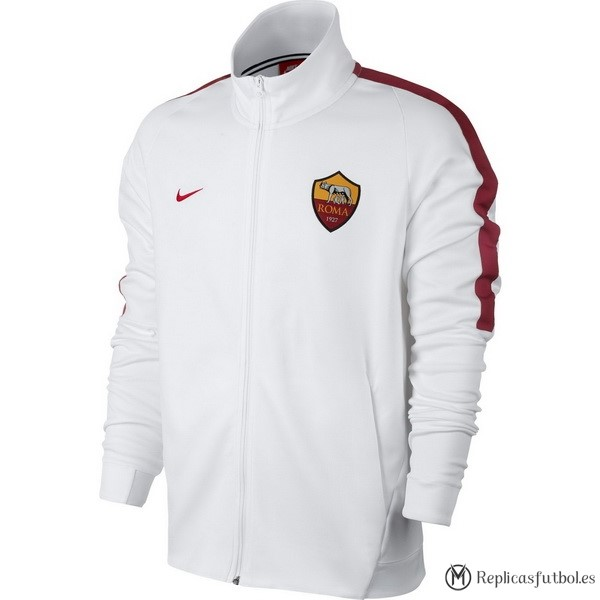 Chaqueta AS Roma 2017/18 Blanco Replicas Futbol
