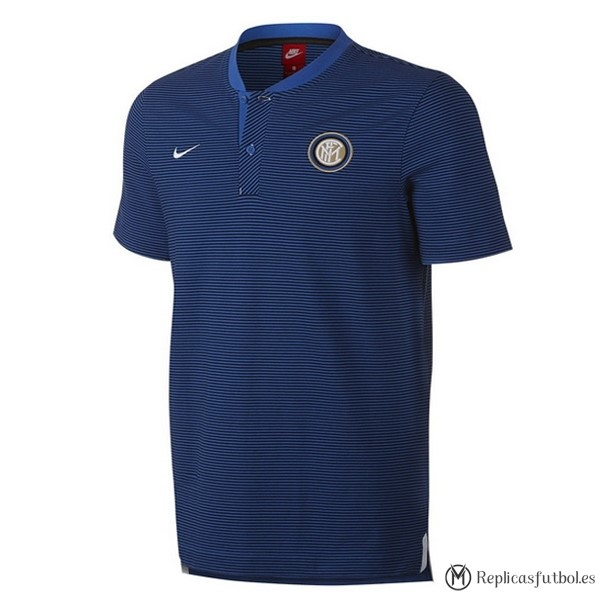 Polo Inter 2017/2018 Azul Replicas Futbol