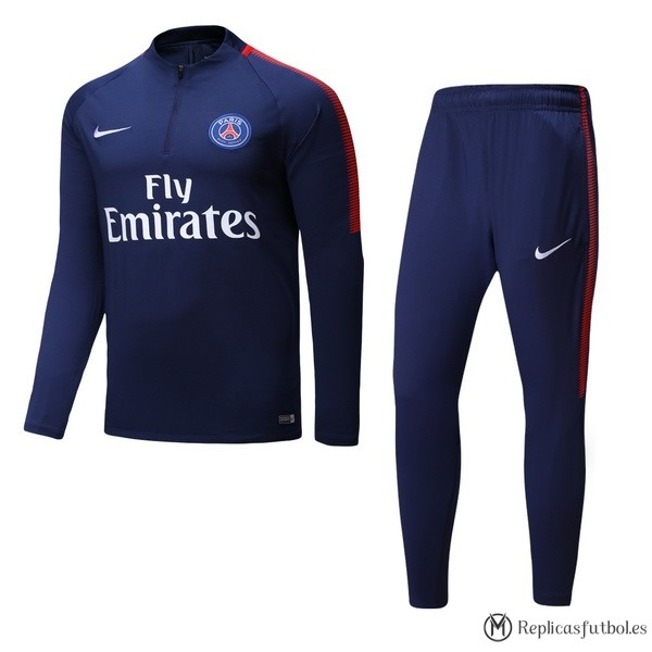 Chandal De Lana Paris Saint Germain 2017/2018 Azul Replicas Futbol