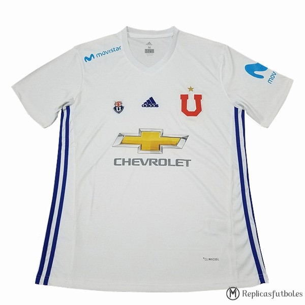 Camiseta Universidad De Chile Segunda 2017/2018 Blanco Replicas Futbol