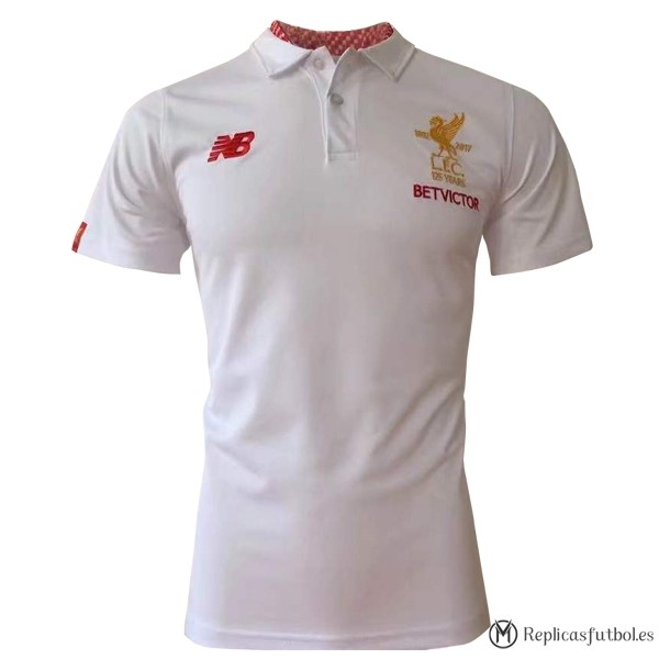 Polo Liverpool 2017/2018 Blanco Replicas Futbol
