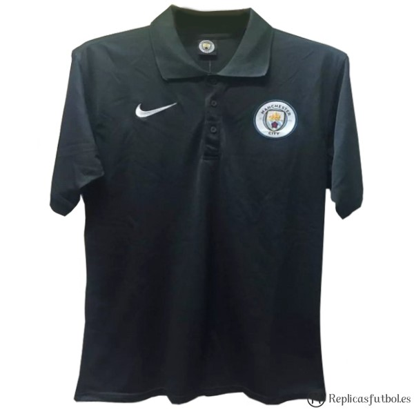Polo Manchester City 2017/2018 Negro Replicas Futbol