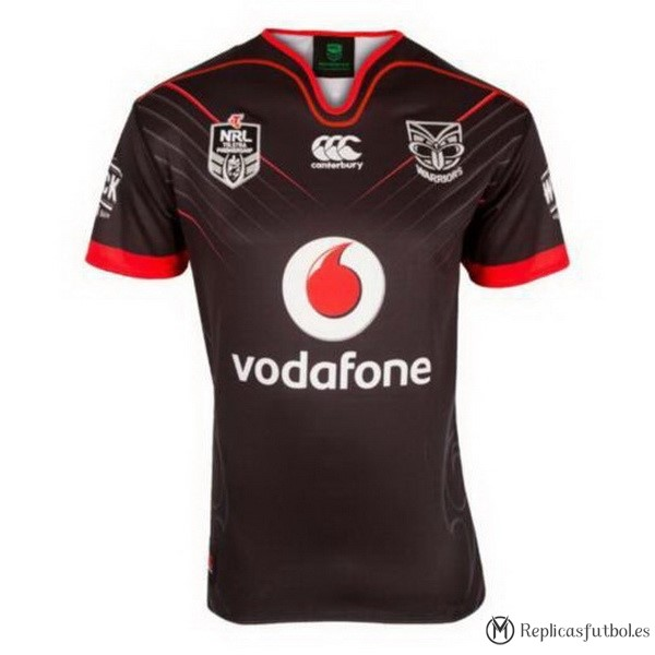 Camiseta Warriors En el Campo 2017/2018 Negro Replicas Rugby