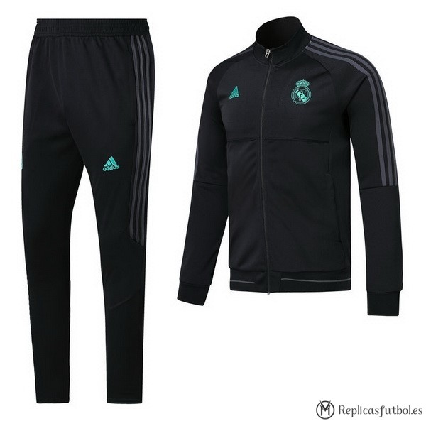 Chandal Real Madrid 2017/2018 Negro Verde Gris Replicas Futbol