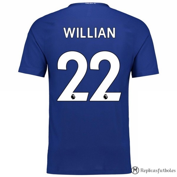 Camiseta Chelsea Primera Willian 2017/2018 Replicas Futbol
