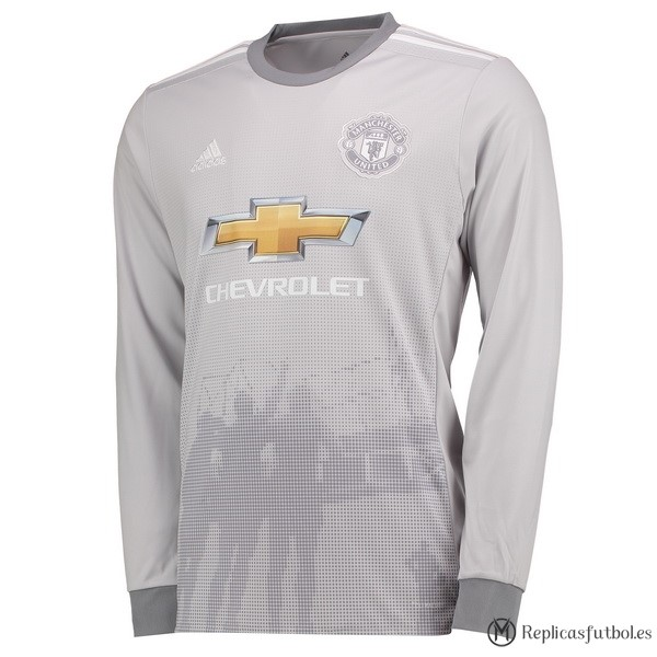 Camiseta Manchester United Tercera ML 2017/2018 Replicas Futbol