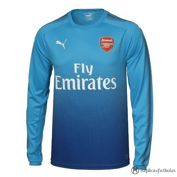 Camiseta Arsenal Segunda ML 2017/2018 Replicas Futbol