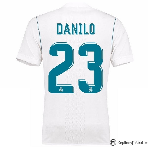 Camiseta Real Madrid Primera Danilo 2017/2018 Replicas Futbol