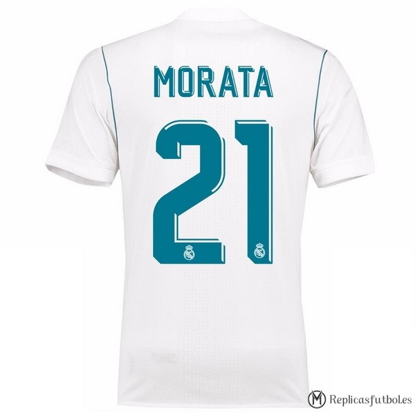 Camiseta Real Madrid Primera Morata 2017/2018 Replicas Futbol