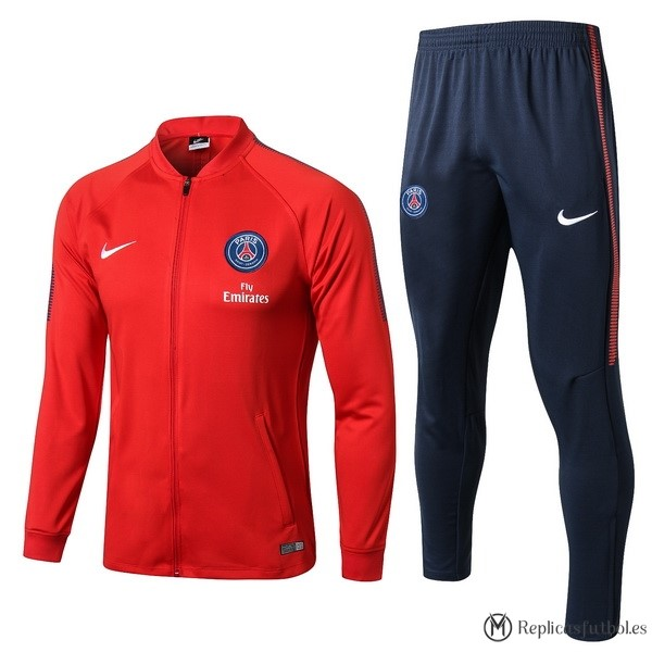 Chandal Paris Saint Germain 2017/2018 Rojo Azul Marino Replicas Futbol