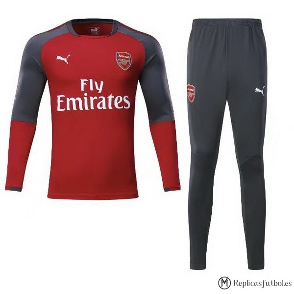 24298004165d9 Chandal Arsenal 2017 2018 Rojo Gris Marino Replicas Futbol