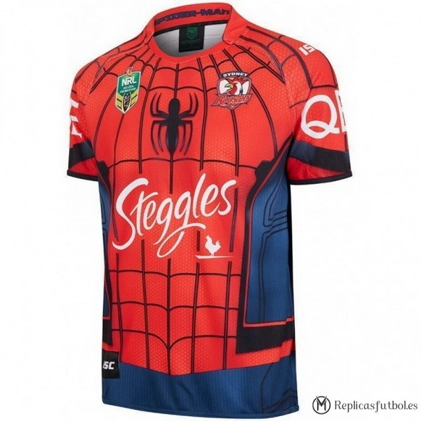 Camiseta Sydney Roosters Spider Man 2017/2018 Rojo Replicas Rugby