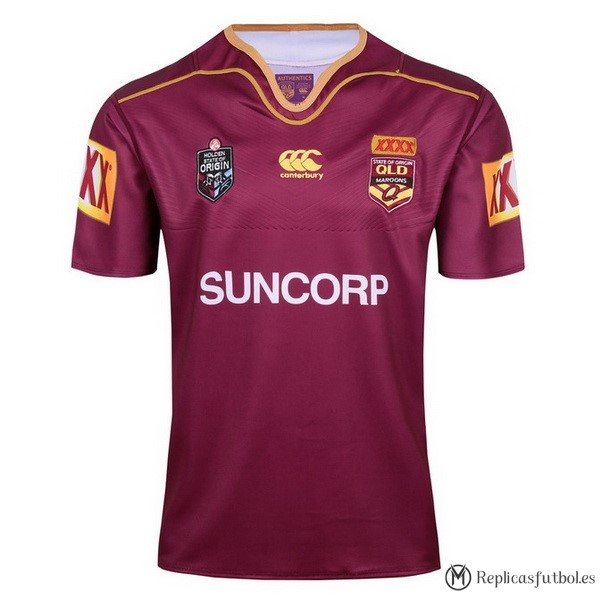 Camiseta QLD Maroons 2017/2018 Rojo Replicas Rugby