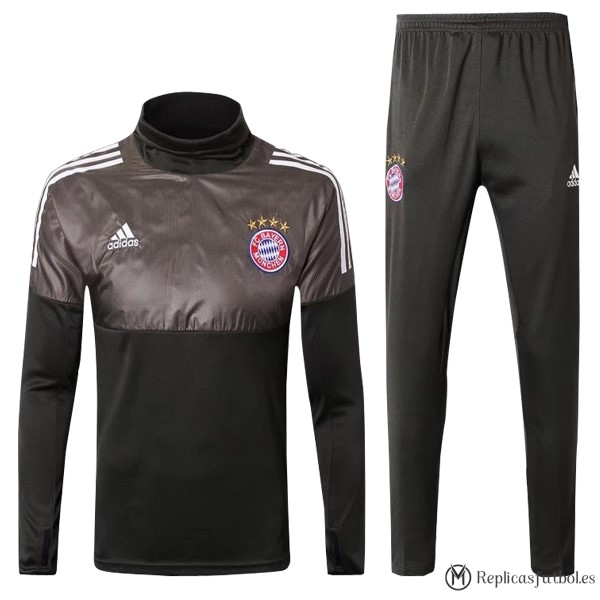 Chandal Bayern Munich 2017/18 Gris Marron Replicas Futbol