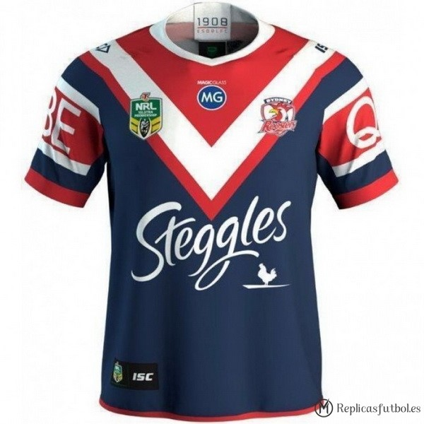 Camiseta Sydney Roosters Primera 2018 Azul Replicas Rugby
