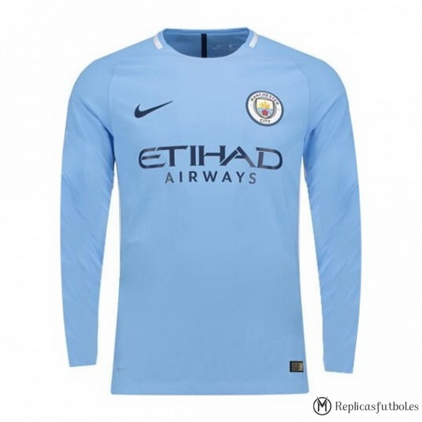 Camiseta Manchester City Primera ML 2017/2018 Replicas Futbol