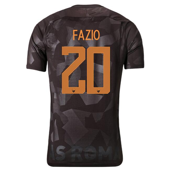 Camiseta AS Roma Primera Fazio 2017/2018 Replicas Futbol
