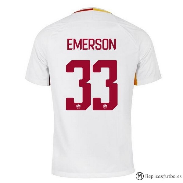 Camiseta AS Roma Segunda Emerson 2017/2018 Replicas Futbol