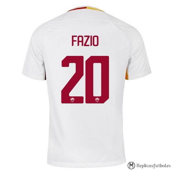 Camiseta AS Roma Segunda Fazio 2017/2018 Replicas Futbol