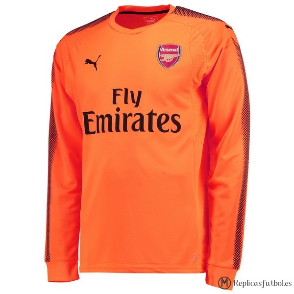 Camiseta Arsenal Segunda ML Portero 2017/2018 Replicas Futbol