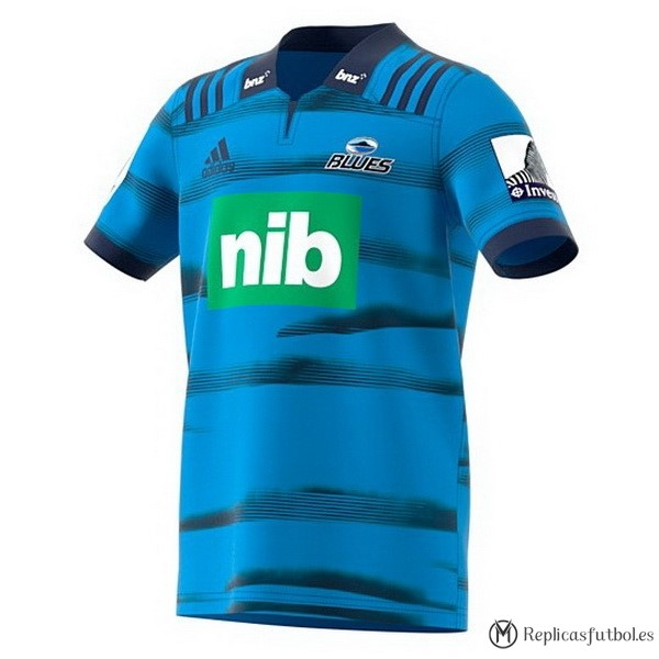 Camiseta Blues Primera 2018 Azul Replicas Rugby