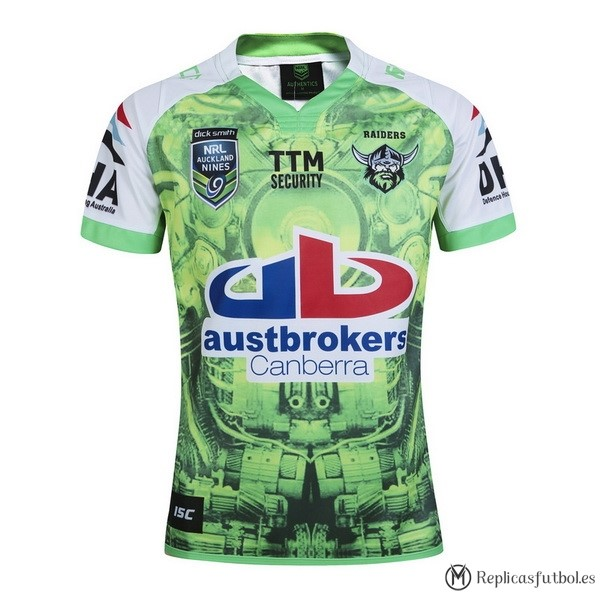 Camiseta Canberra Raiders Auckland 9's 2016 Verde Replicas Rugby