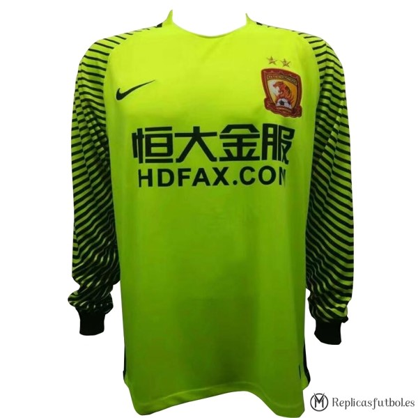 Camiseta Evergrande ML Portero 2017/2018 Replicas Futbol